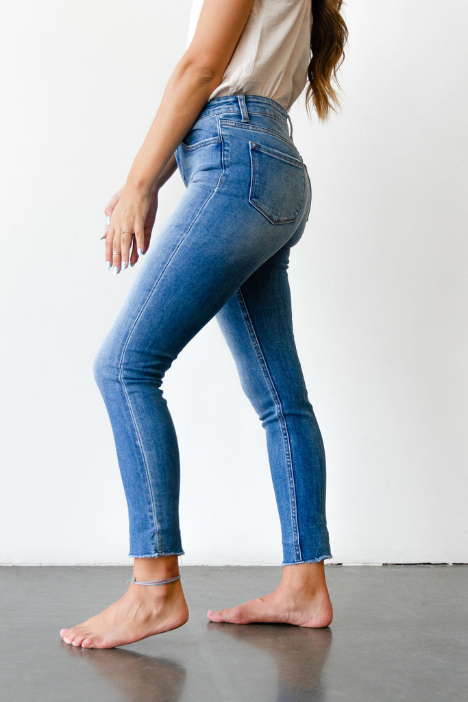 The Rockie Mid Rise Ankle Skinny By Nectar Premium Denim