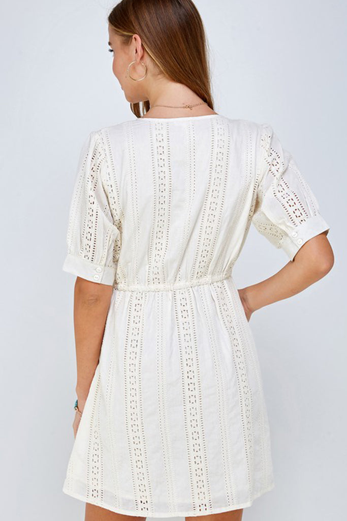 Here For The Party Eyelet Dress