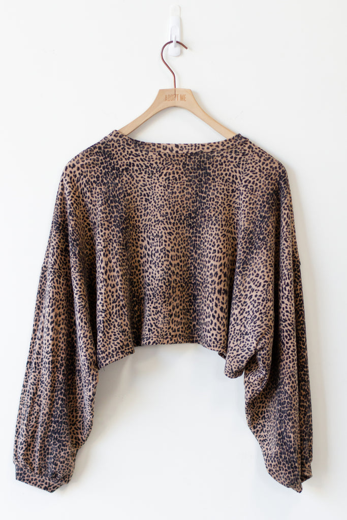 Save Yourself Animal Print Sweater