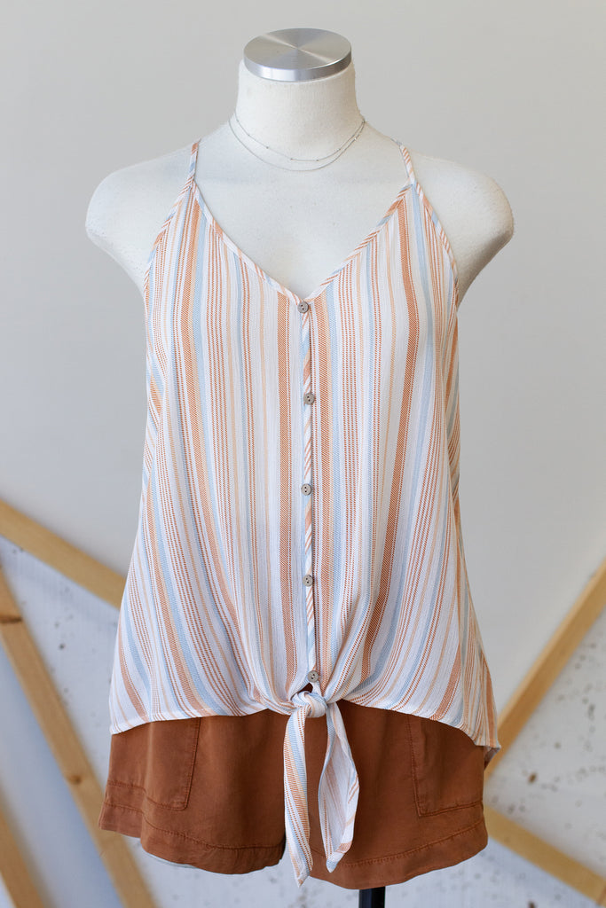 Think About Things Striped Cami Top