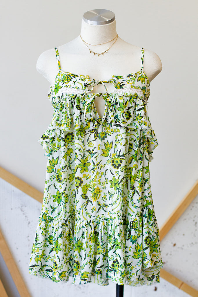 Green/Yellow Cami Dress