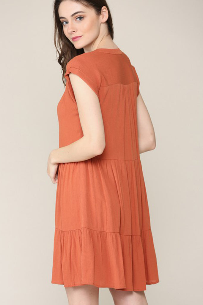 I'll Be Alright Ruffle Dress