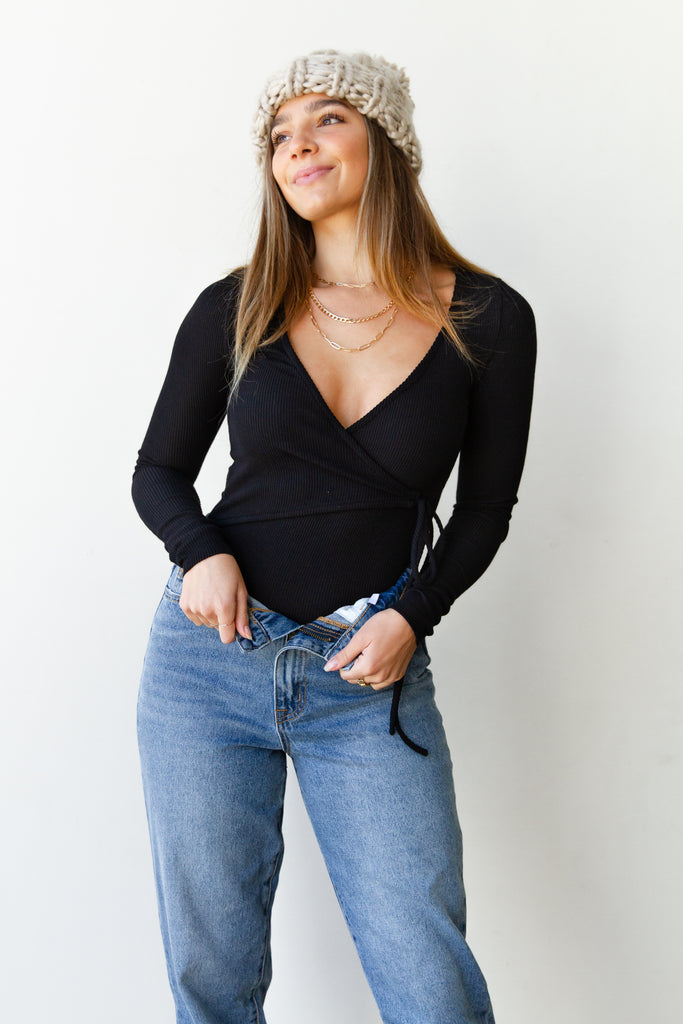 Don't Rush Ribbed Bodysuit By For Good