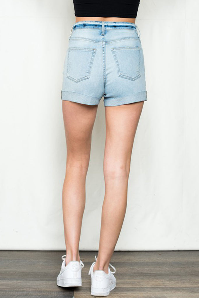 You're The Best Distressed Denim Shorts