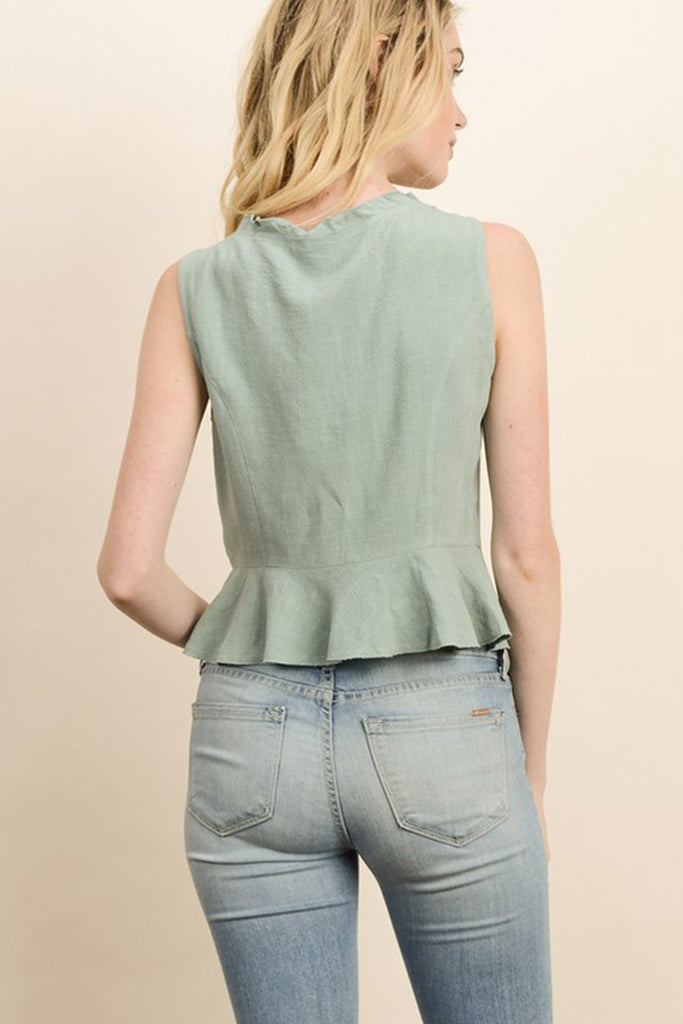 Looking Good Sleeveless Top by For Good