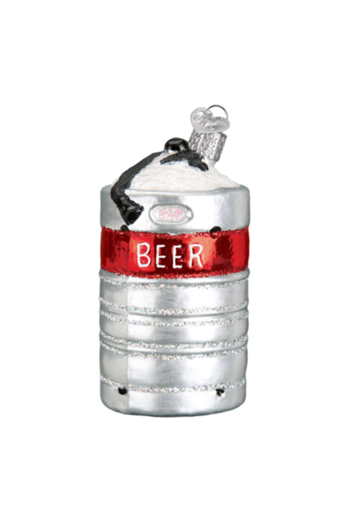 aluminum keg ornament