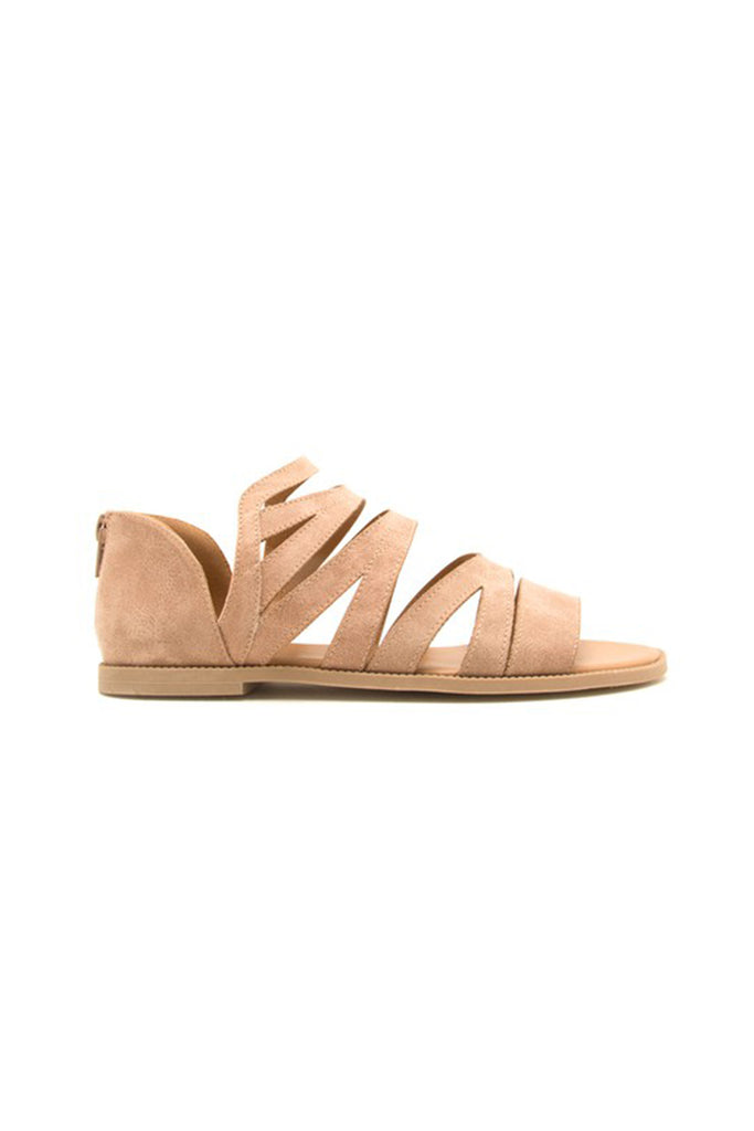 taupe strappy sandal