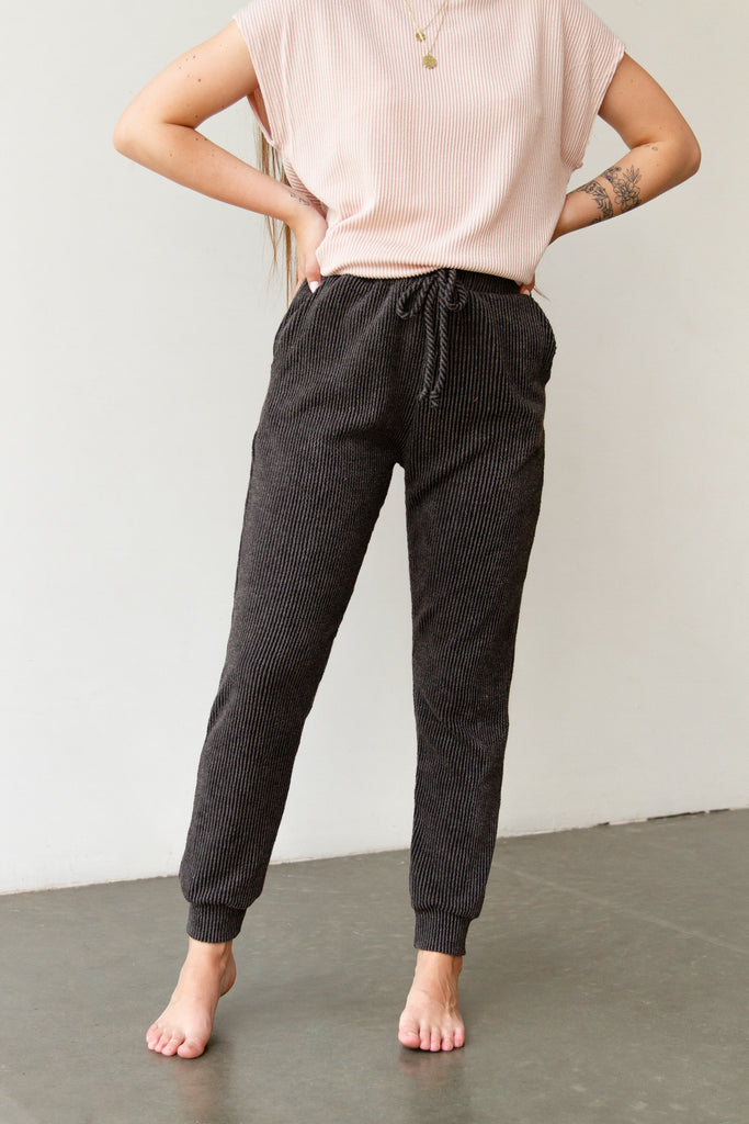 Day Dreaming Ribbed Joggers