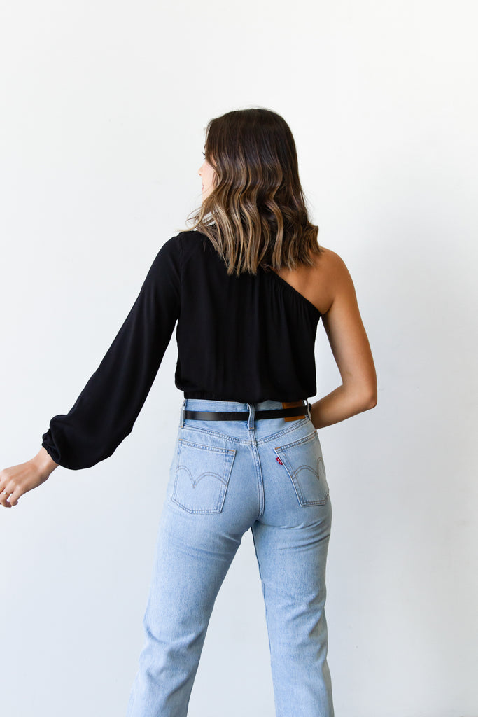 Electric Feel One Shoulder Top by For Good