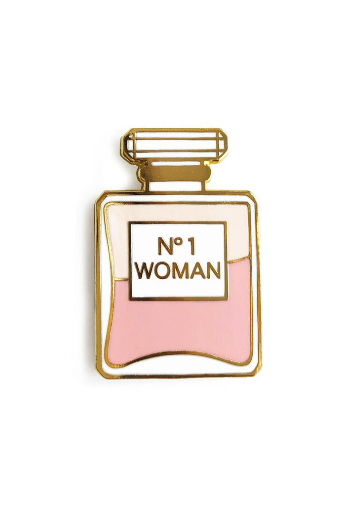 No. 1 Woman Enamel Pin by AKR Design