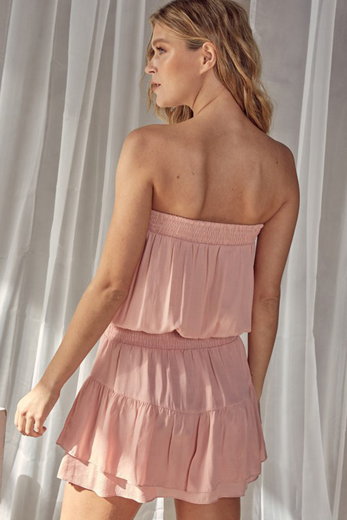 Catching Feelins Strapless Dress