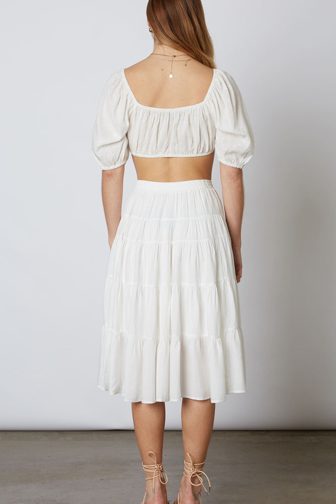 White Mid-Length Skirt