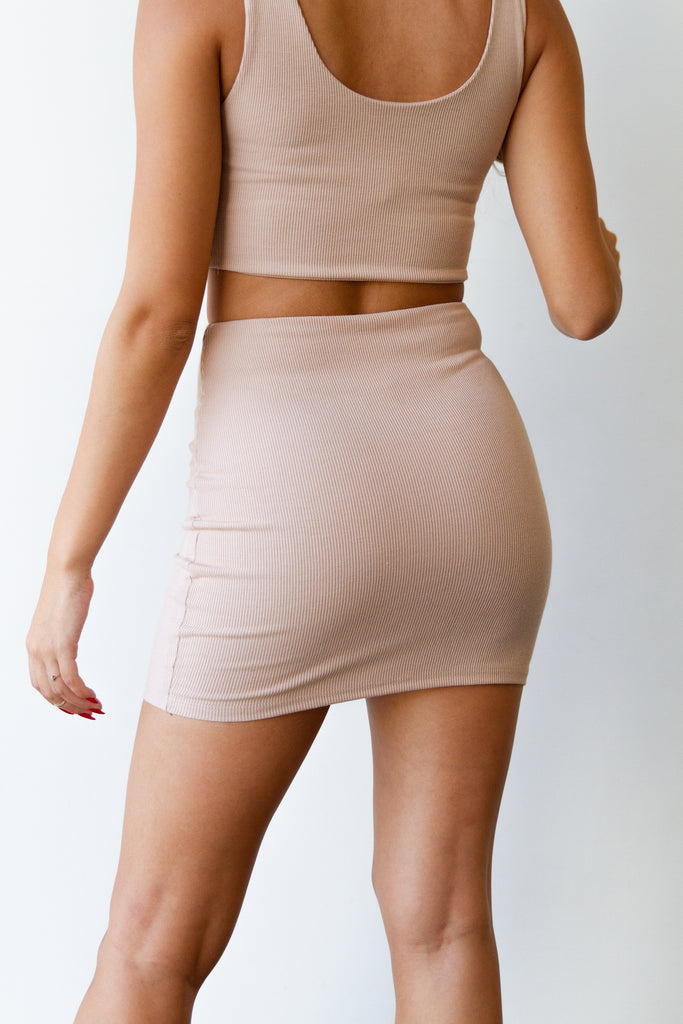 natural mini skirt