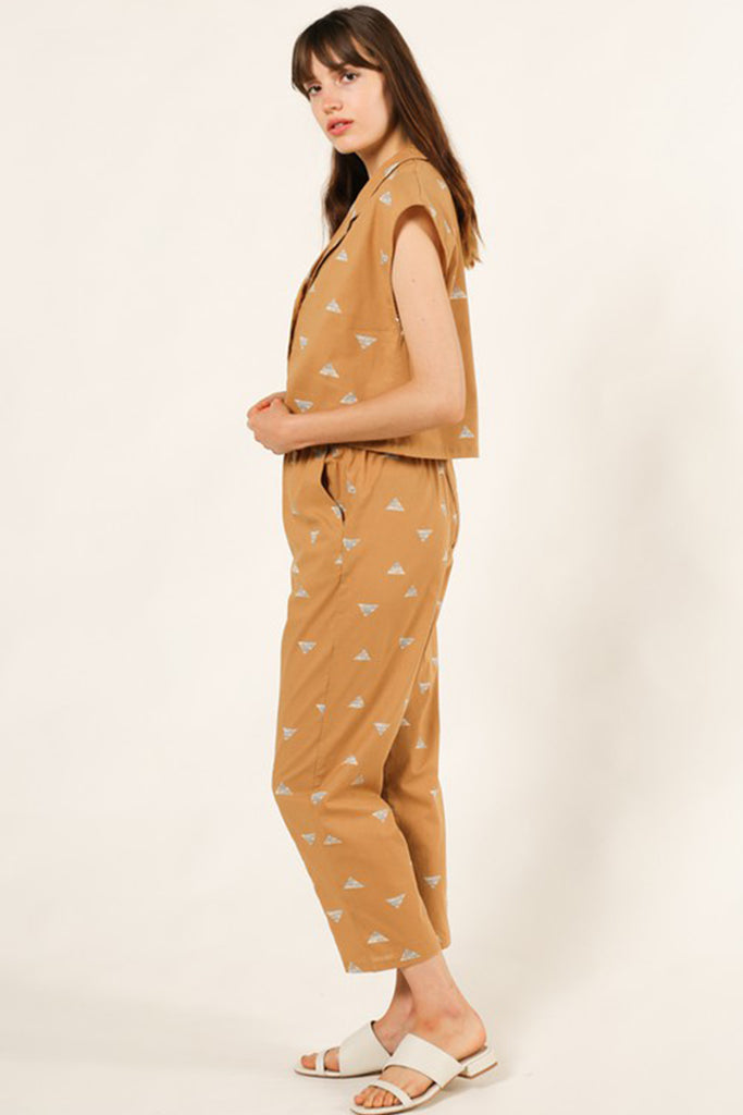 Somebody Loves You Printed Pants by For Good