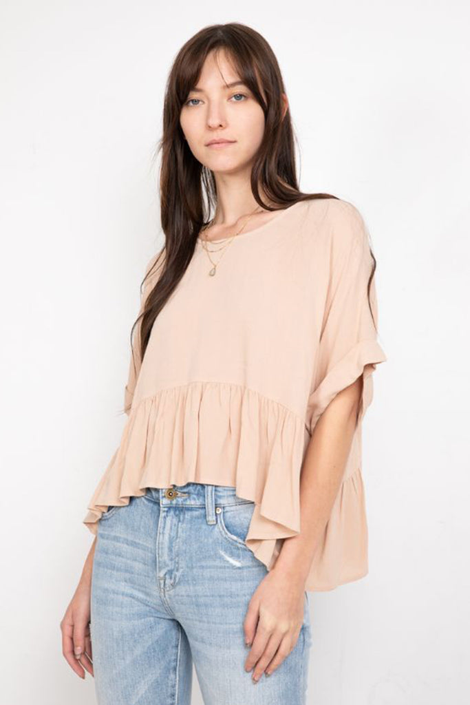 natural flowy top