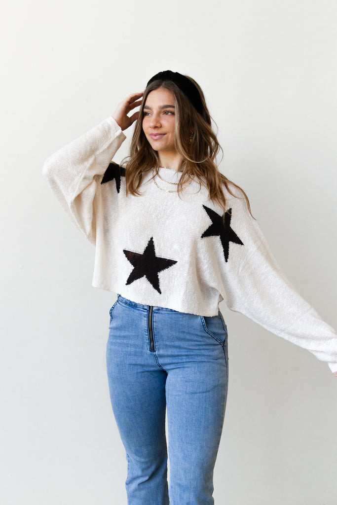 Leave It Star Sweater