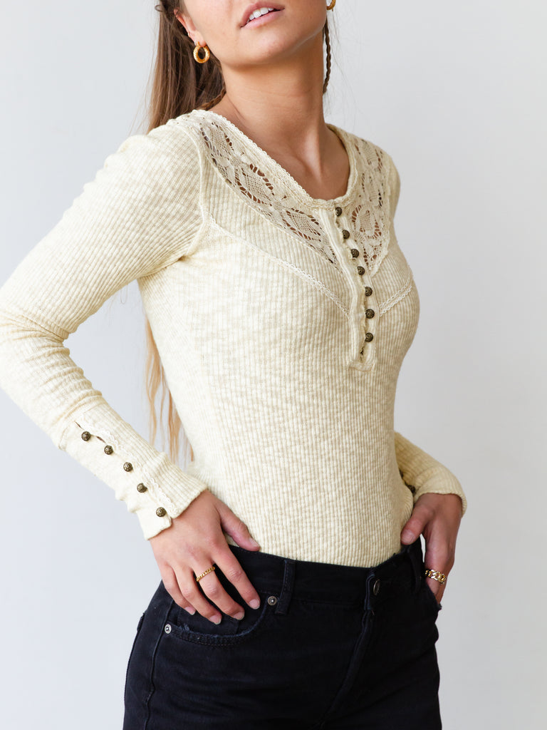 natural lace top