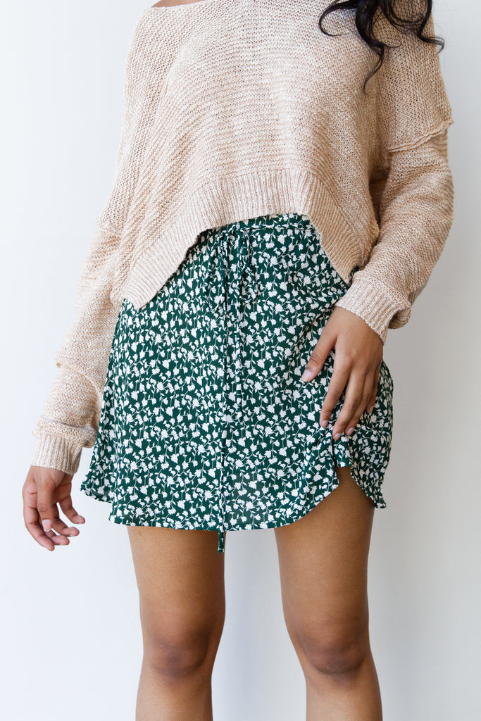 Long Time Floral Skirt