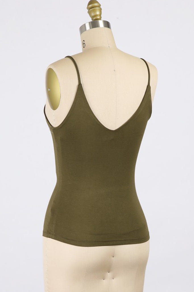 Olive Cami Top