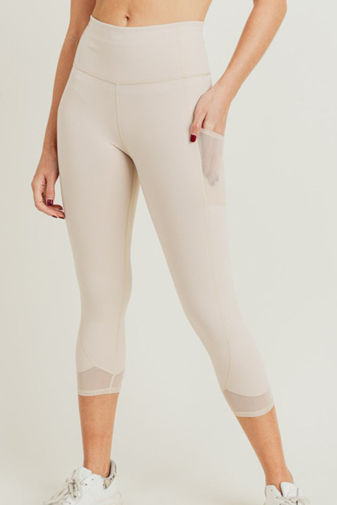 nude capri leggings