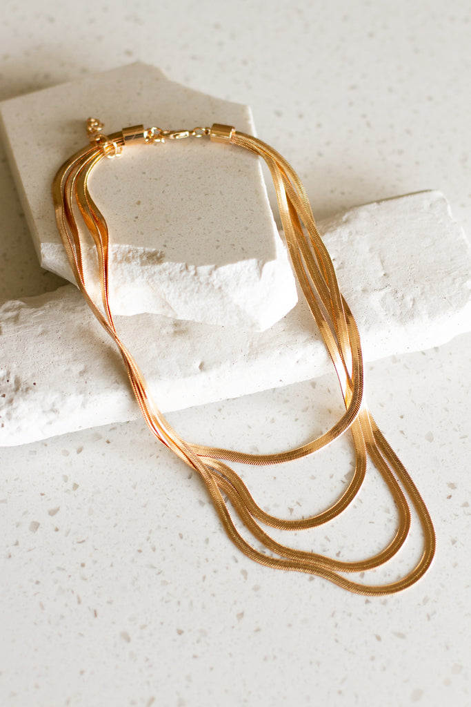 The Sunshine Triple Layer Necklace