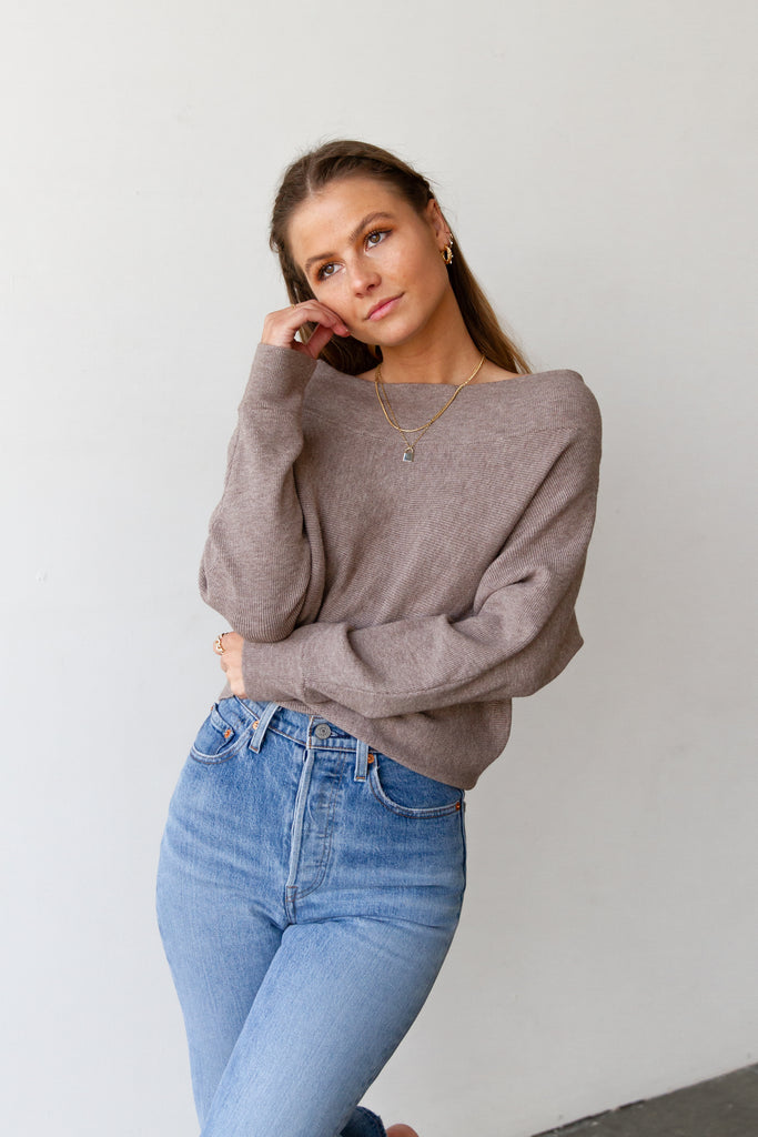 Mocha OTS Sweater