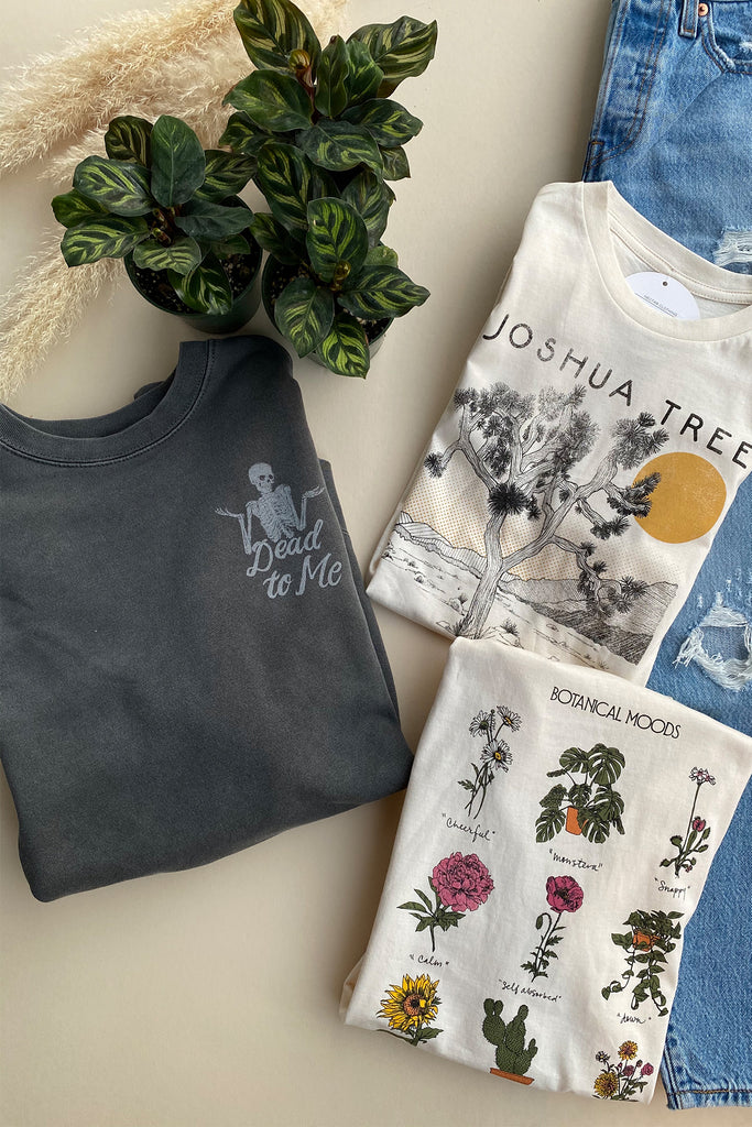 botanical moods graphic tee