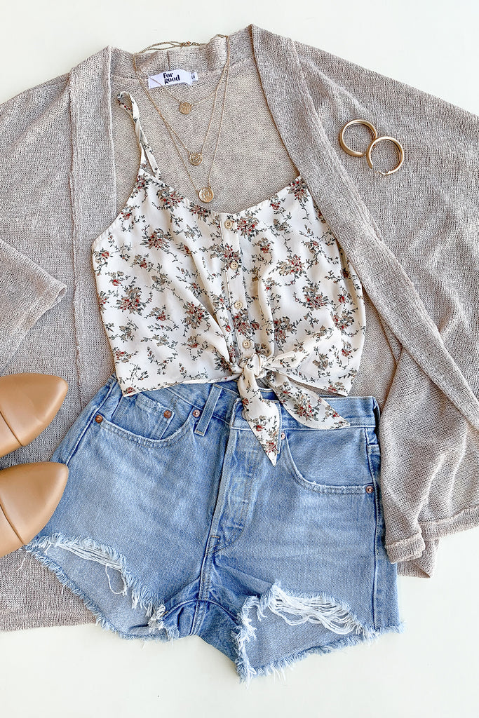 In Bloom Floral Crop Top