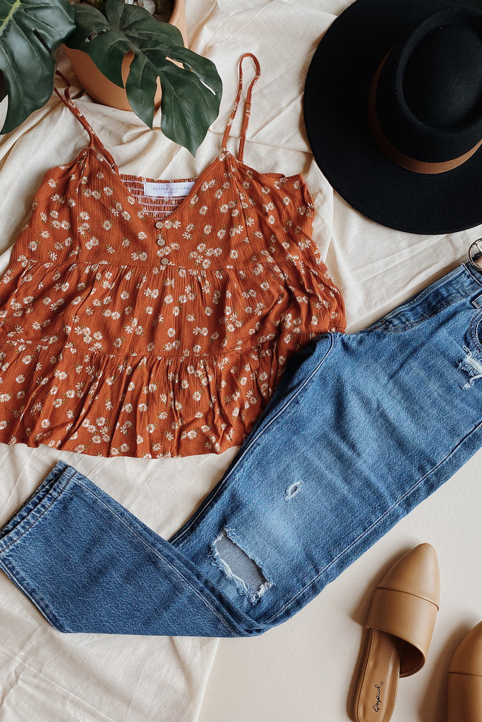 Brick Floral Cami Top