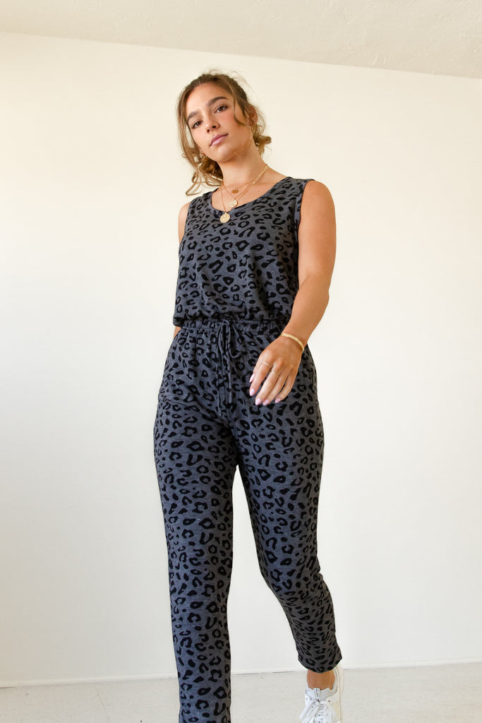 The Mercy Animal Print Jumpsuit by For Good