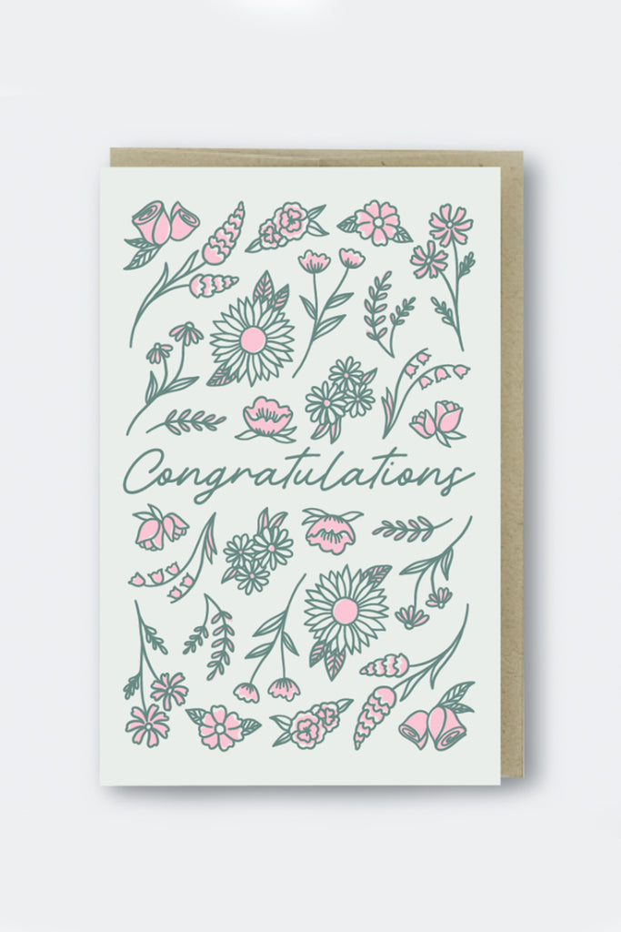 Floral Congratulations Greeting Card