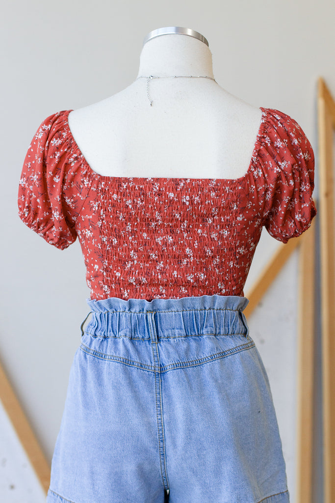 Like A Lady Floral Crop Top