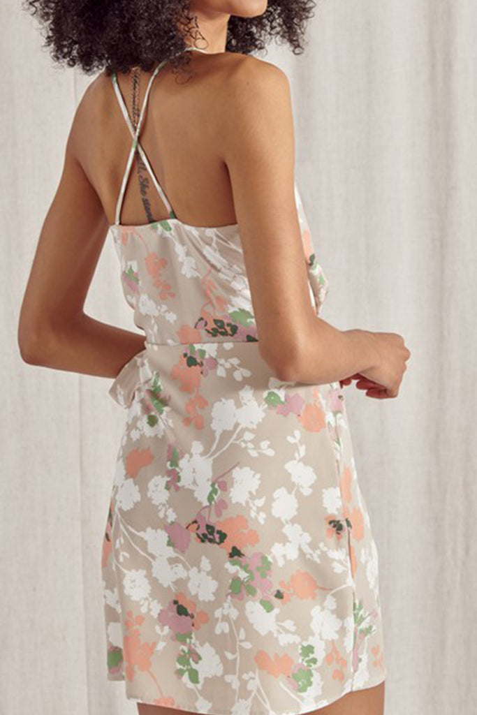 Feel The Sunshine Floral Wrap Mini Dress