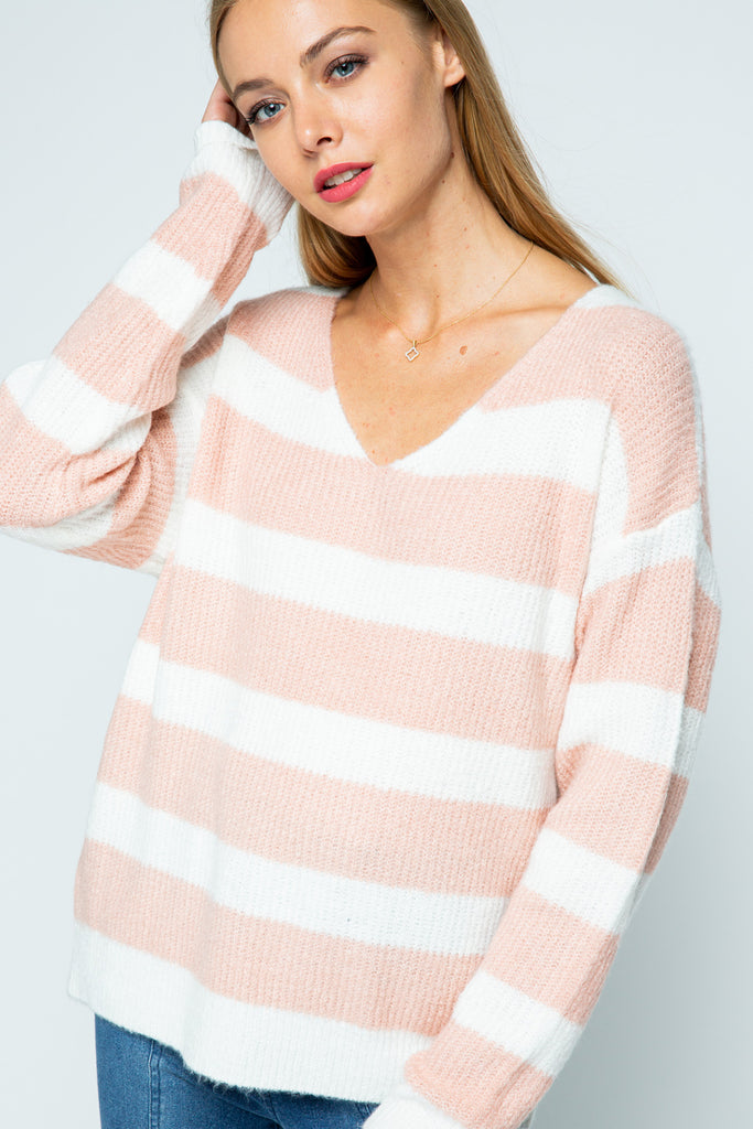 Over Now Striped Sweater