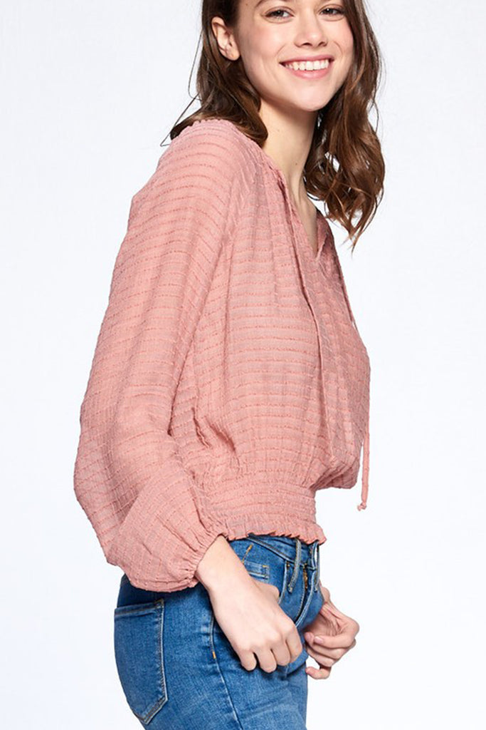 Mauve Long Sleeve Top