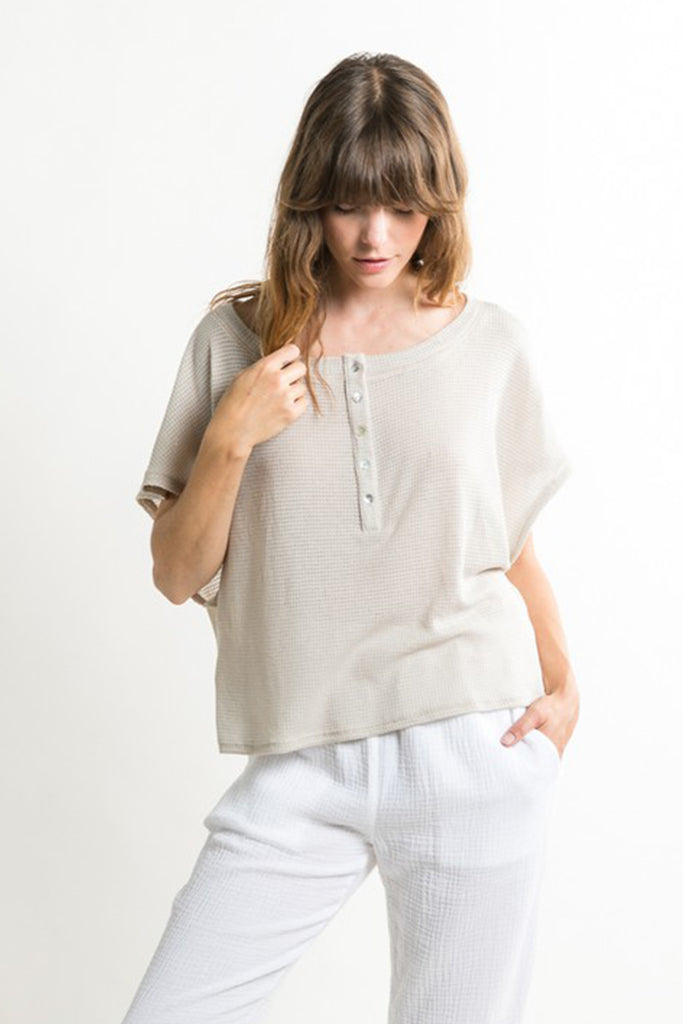 Natural Henley Top