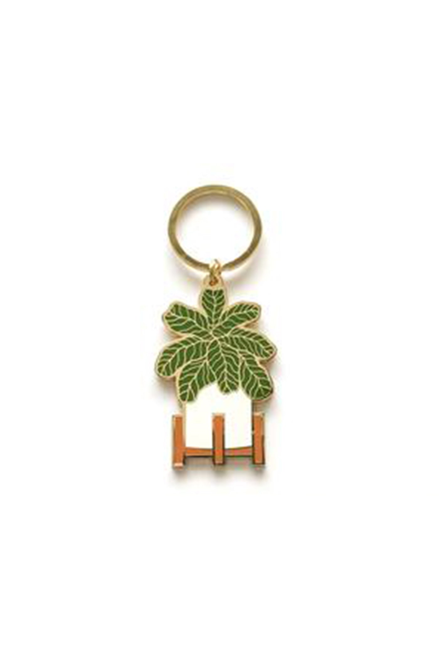 Fiddle Leaf Fig Keychain By Ancho Paper Co.