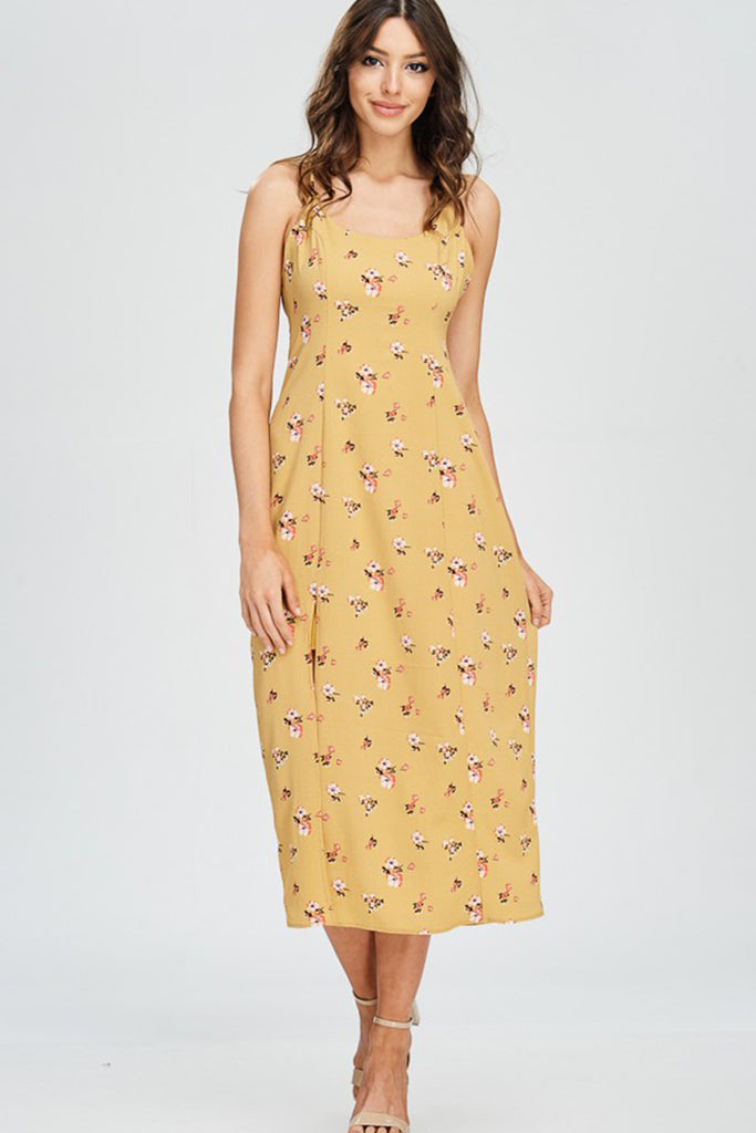 When In Rome Floral Midi Dress