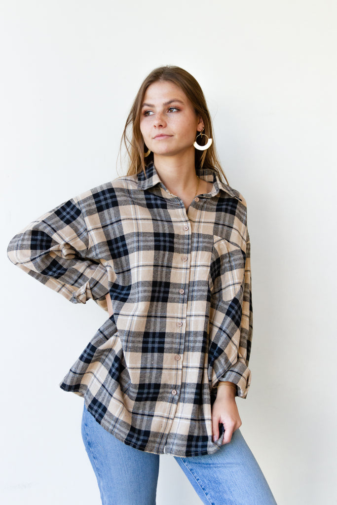 Control Flannel Top
