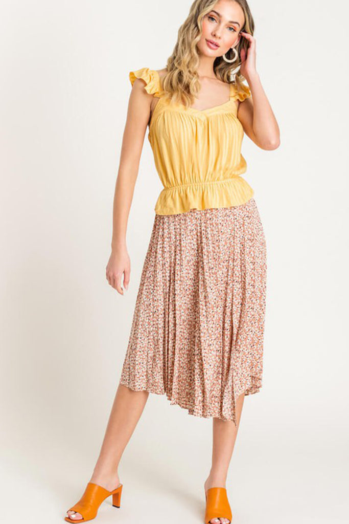 Sun Seeking Cinched Waist Crop Top