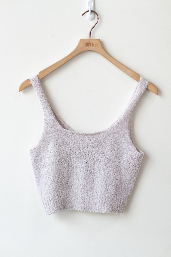 grey tank crop top
