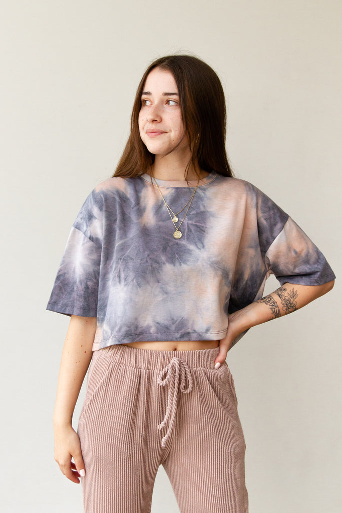 Let Go Tie Dye Crop Top