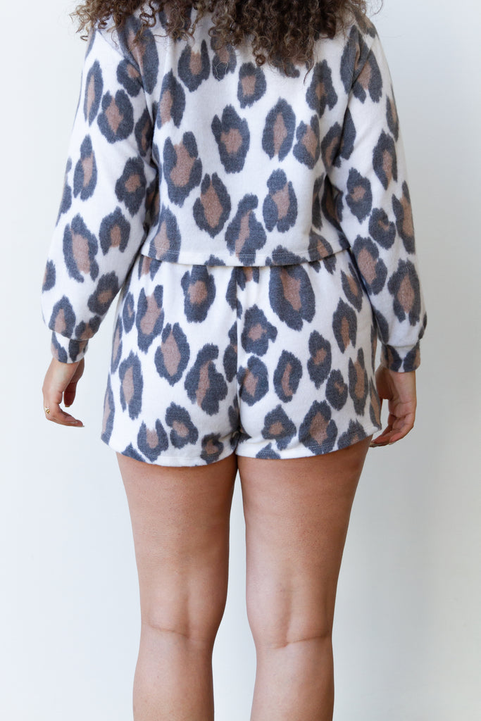 Just Stay Animal Print Shorts
