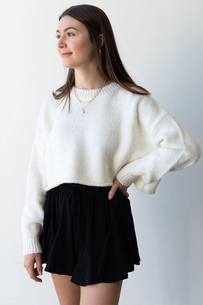 Hanging Around Ribbed Knit Sweater