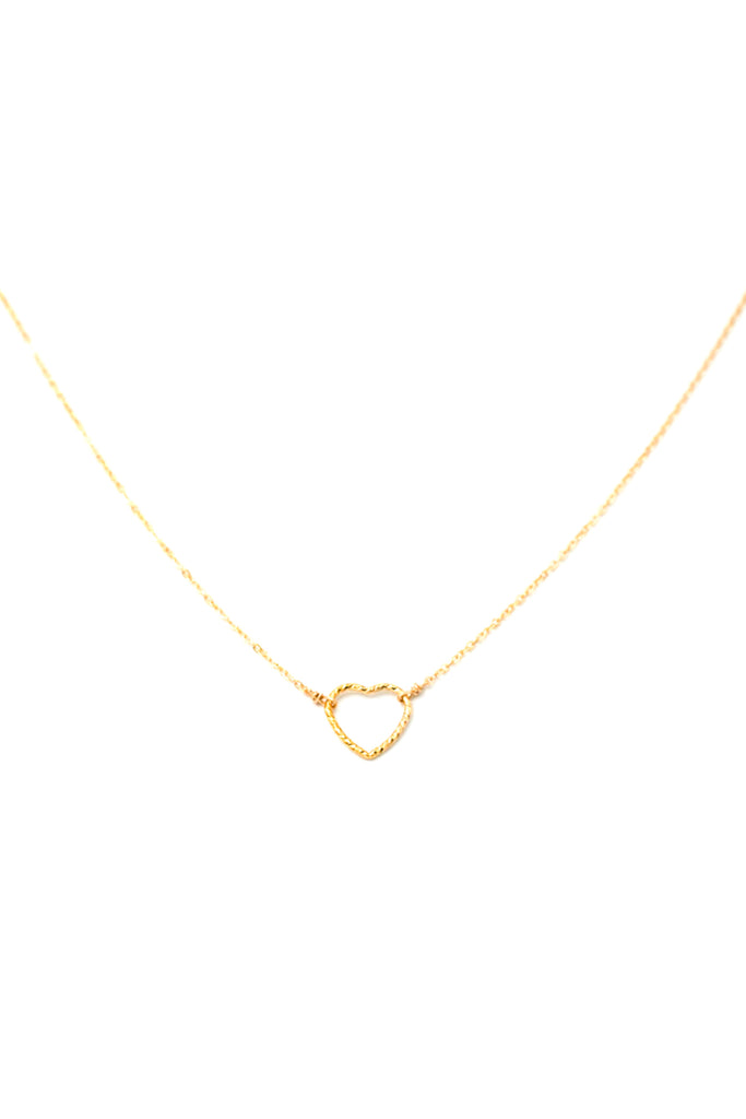Small Shimmer Heart Necklace by May Martin