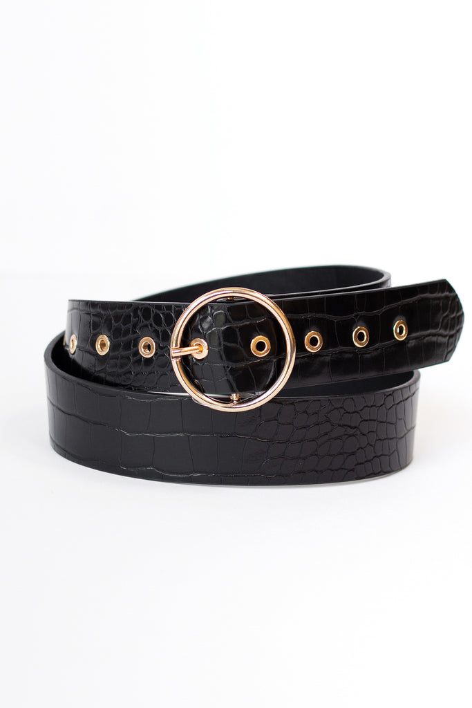 Midnight Love Snake Print Belt