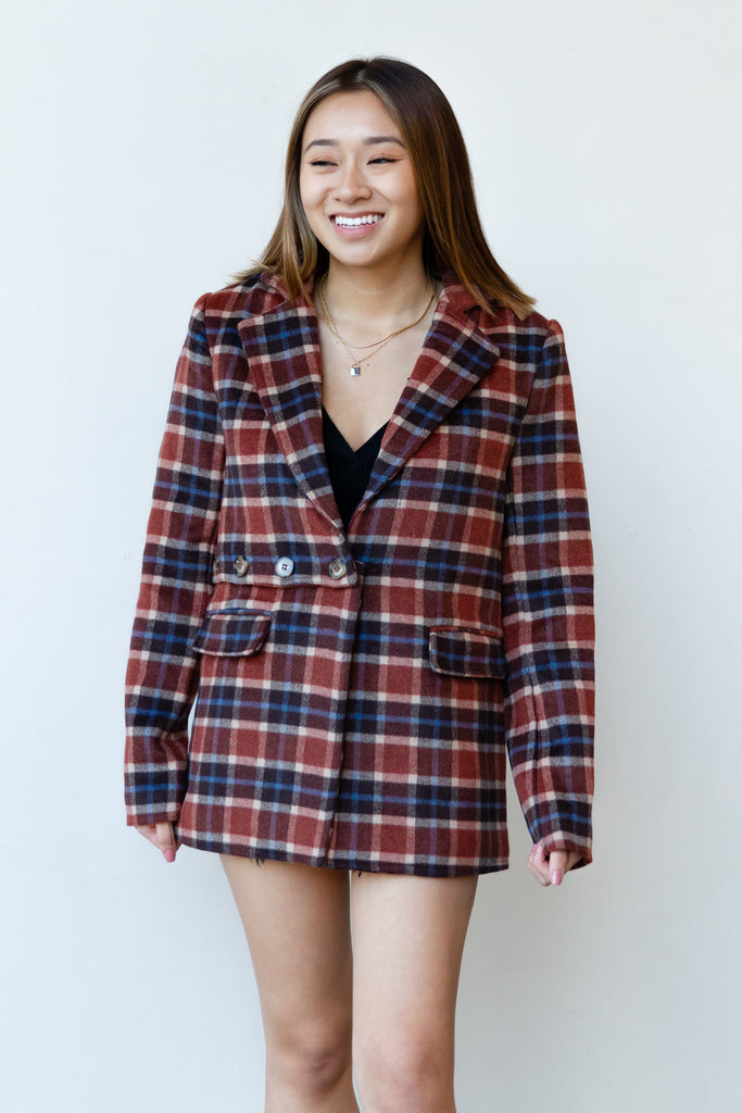 Dreamville Plaid Coat By For Good