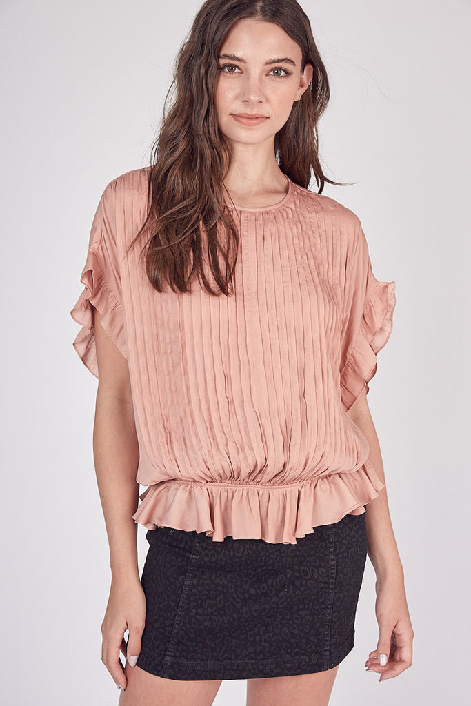 First Love Pleated Top by For Good