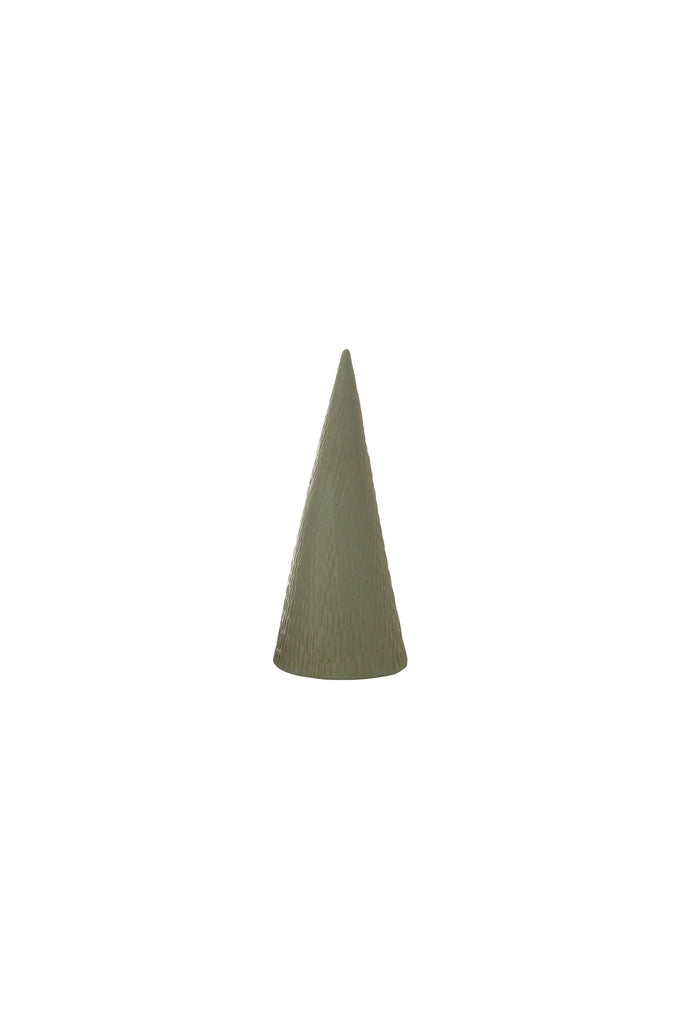 green stoneware christmas tree