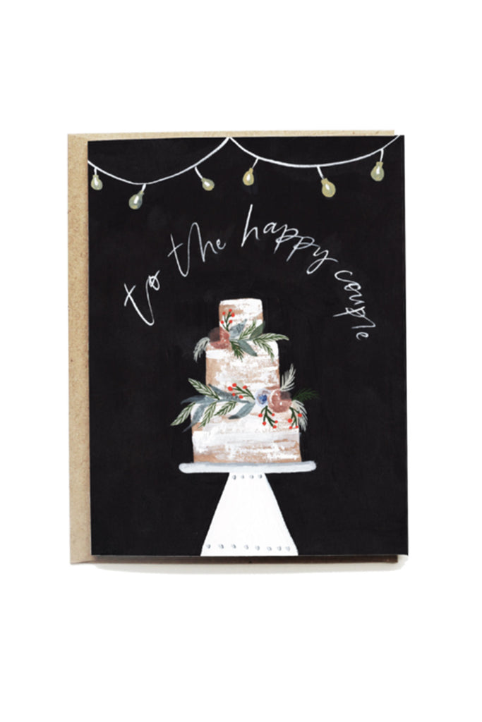 Decorative Cake Wedding Card by Pen + Pillar
